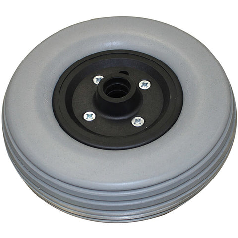 "New Solutions: 8 x 2"" Invacare Two Piece Caster 7/16"" Bearings 2 1/2"" Hub Width Foam Filled Tire - CW203 - Side View"