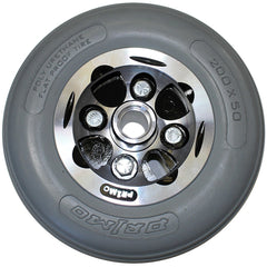 "New Solutions: 8 x 2"" Alloy Wheel Two Piece Caster w 2 1/2"" Hub Width Urethane Tire - CW271"