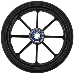 "New Solutions: 6 x 1"" 8 SPOKE WHEEL With 1.5"" Hub Urethane Round - CW346"