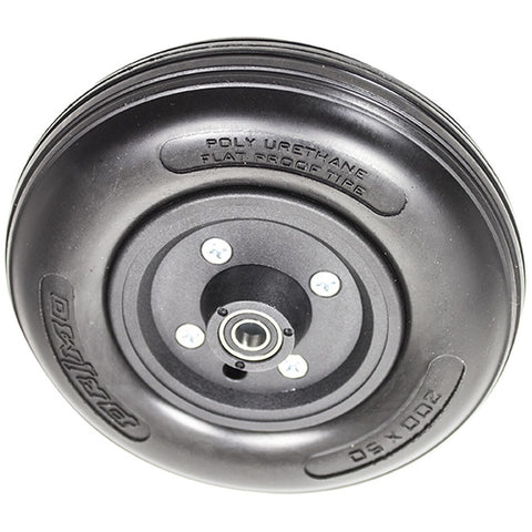 "New Solutions: 8 x 2"" Two Piece Caster (Black) 7/16"" Bearings 2 1/2"" Hub Width Urethane Tire - CWB201 - Top View"