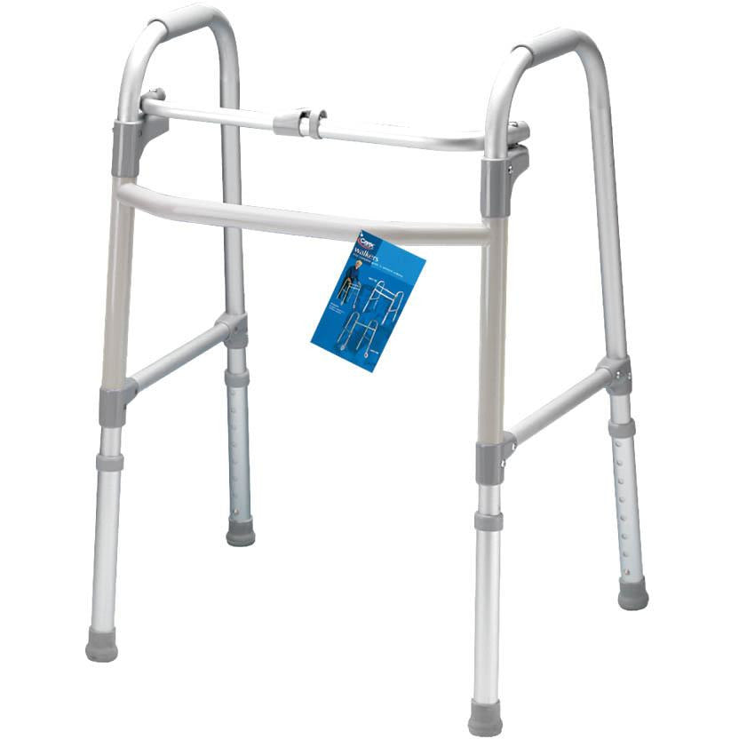"Carex: Single-Button Walker with 5"" Wheels - FGA857C0 0000"