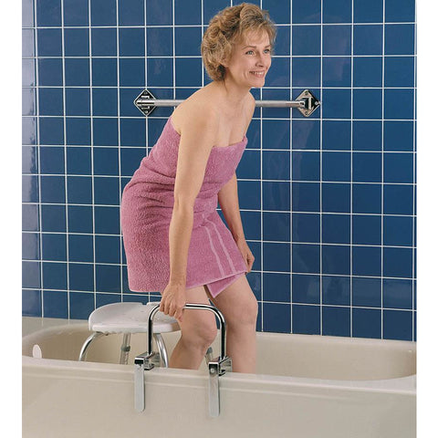 Compass Health: Carex Bathtub Rail With Chrome Finish CP: 6 - FGB20100 0000 Bath Tub Adjust
