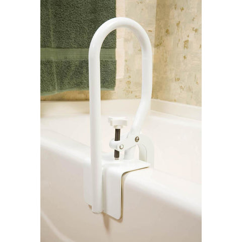 Compass Health: Carex White Bathtub Rail - FGB20400 0000 Bath Tub Adjust