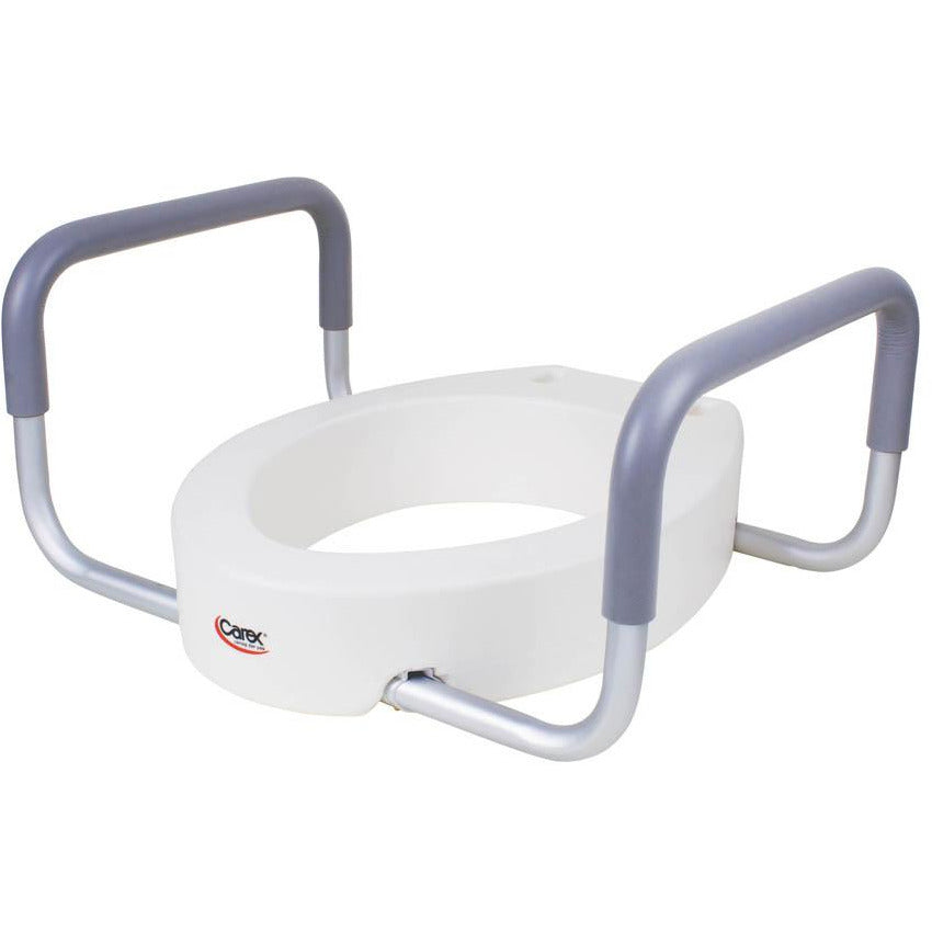Compass Health: Carex Toilet Seat Elevator with Handles - Elongated - FGB31600 0000 Side View