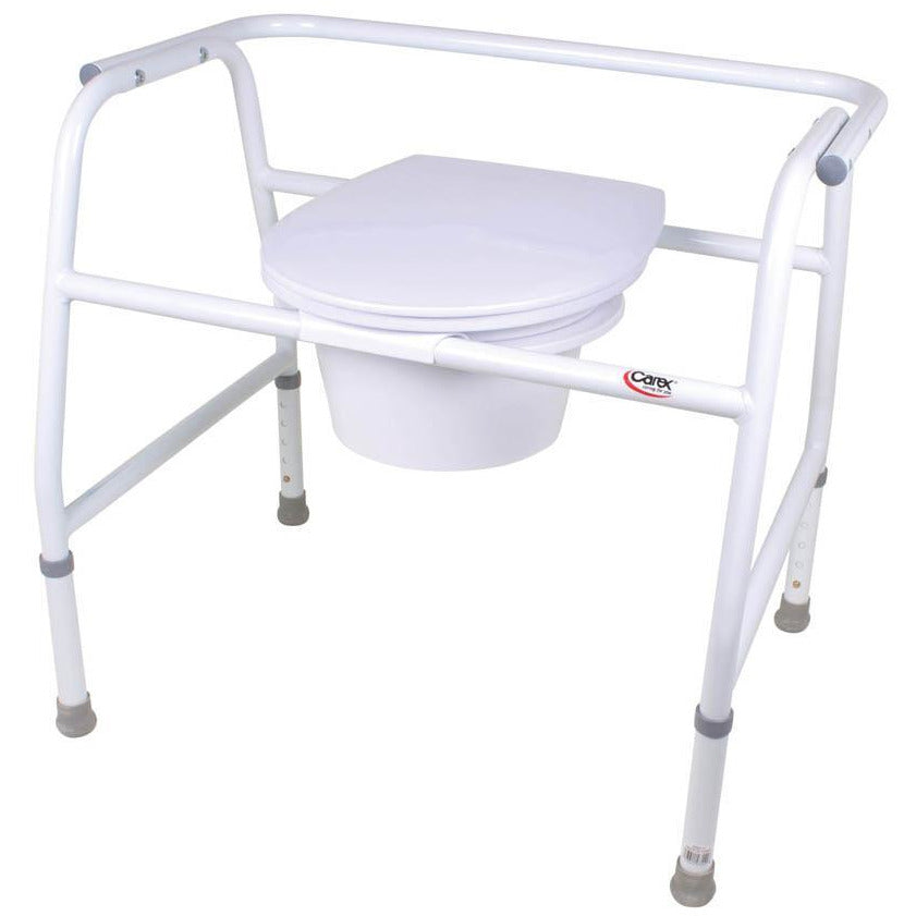 Carex Extra-Wide Steel Commode - FGB35511 0000