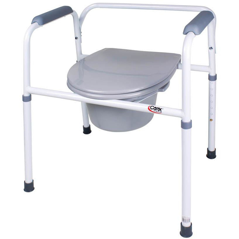 Compass Health: Carex Bedside Steel Commode - FGB35711 0000