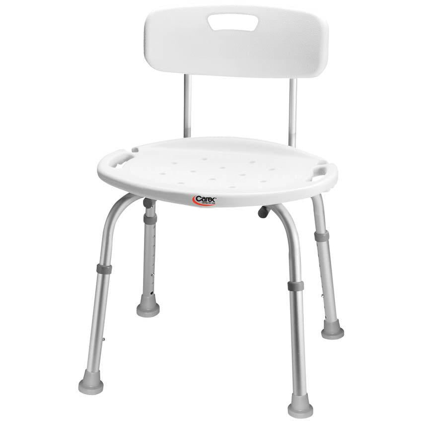 Compass Health: Carex Adjustable Bath & Shower Seat with Back - FGB65100 0000