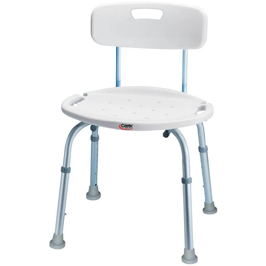 Compass Health: Carex Bath & Shower Seat with Back - FGB65877 0000