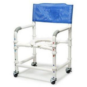 Graham Field: PVC Knock-Down Shower Commode Chair a-89100-KD