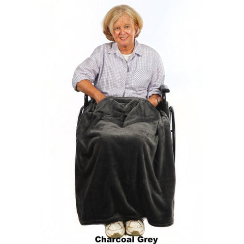 Granny Jo Products: Chair Blanket - Charcoal Grey Color