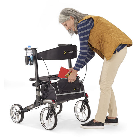 Comodita: Tipo Petite Walker Rollator - COM 910  Black Back View
