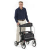 Image of Comodita : Uno Classic Walker Rollator - COM500 Black Back VIew