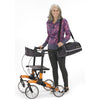 Image of Comodita: Tipo Petite Walker Rollator - COM 910 Orange Side View with Transport Bag
