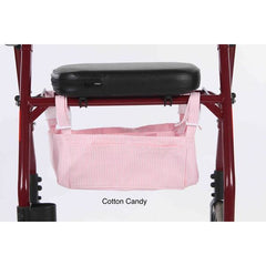 Granny Jo Products: Underseat Rollator Bag - Cotton Candy Color