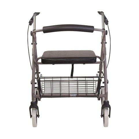 Healthsmart: DMI® Lightweight Extra-Wide Heavy-Duty Aluminum Rollator - 501-1029-0700 - Front View