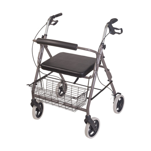 Healthsmart: DMI® Lightweight Extre-Wide Heavy-Duty Aluminum Rollator - 501-1029-0700 - Side View