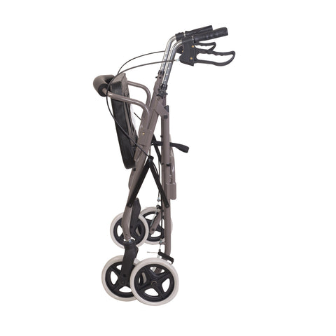Healthsmart: DMI® Lightweight Extre-Wide Heavy-Duty Aluminum Rollator - 501-1029-0700 - Folding View