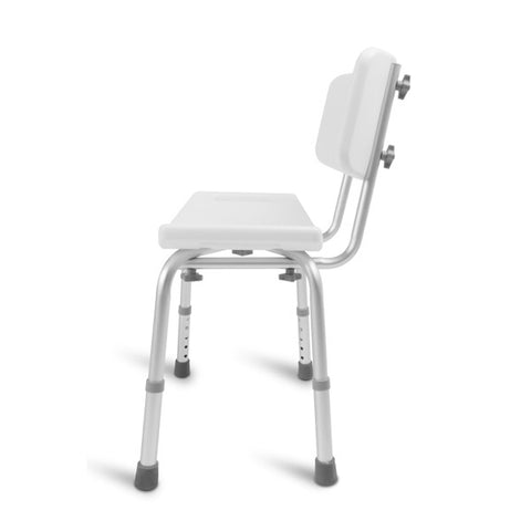 Healthsmart: Dmi Tool-Free Bath Seat – Shower Chair W/ And W/O Back 522-0798-1900 - Side View