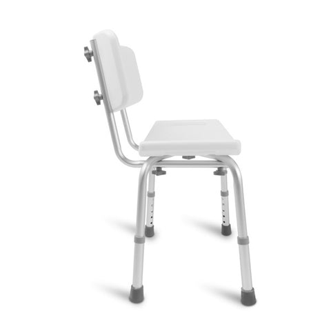 Healthsmart: Dmi Tool-Free Bath Seat – Shower Chair W/ And W/O Back 522-0798-1900 - Right Side View
