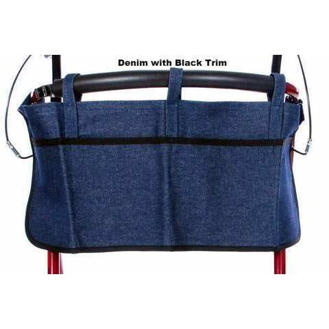 Granny Jo Products: Rollator Apron - Denim with Black Trim