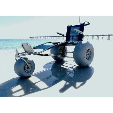 Beach Wheelchairs: EZ Roller Surf Chair - without optional pontoons.