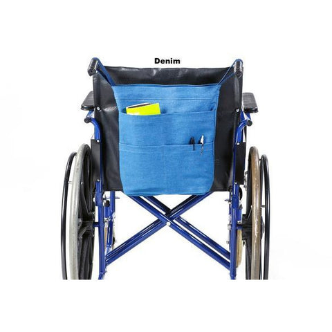 Granny Jo Products: REAR HANGING WHEELCHAIR BAG - 1205 - Denim Color
