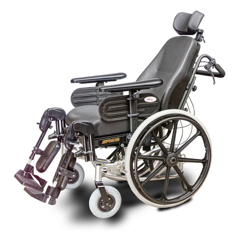 EV Rider: SPRING Lightweight Manual Wheelchair Aluminum Frame - HW1 - side-view-2