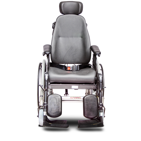 EV Rider: SPRING Lightweight Manual Wheelchair Aluminum Frame - HW1 - front-view