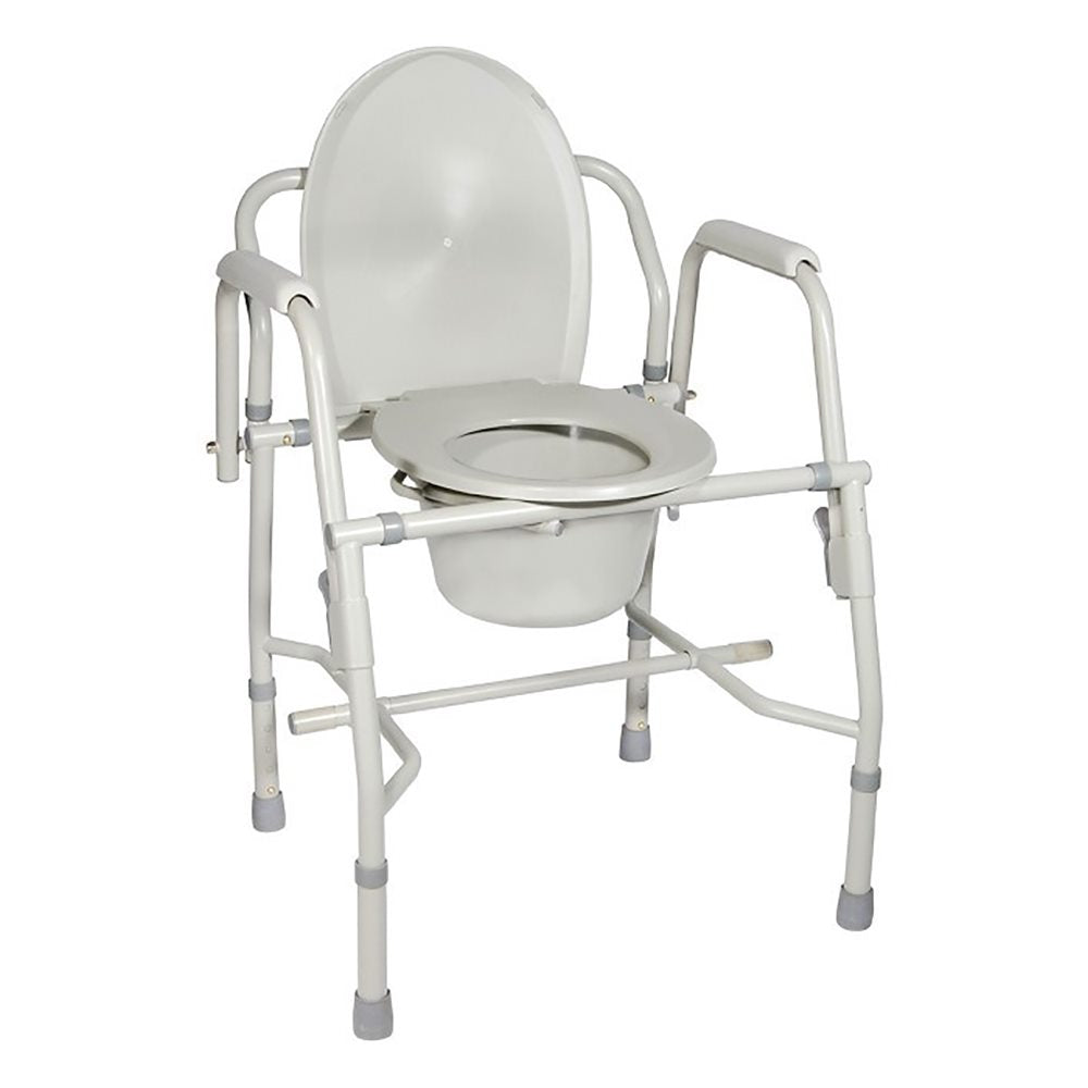 Drive Medical: Deluxe Steel Drop-Arm Commode