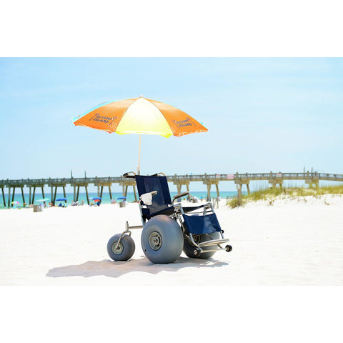 Debug Mobility: Elevating Leg Rest All-Terrain Beach Wheelchair - Elevating Leg Rest