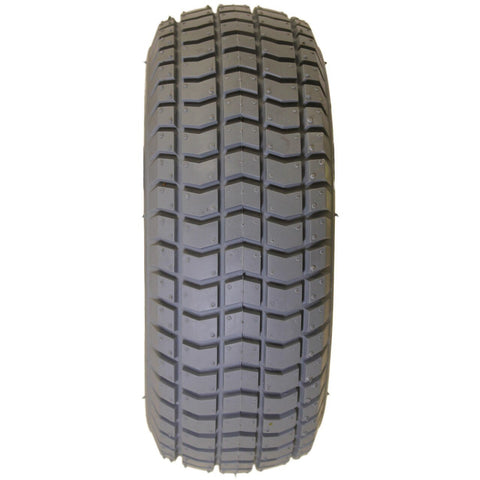 "New Solutions: 9 X 3.50-4 (8 1/2 x 3 1/4"") Knobby Tire Fits Most - F060 - Grip View"
