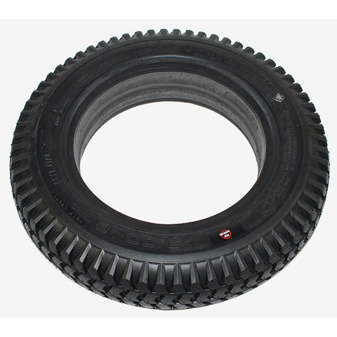 "New Solutions: 3.00-8 (14 x 3"") Black non marking knobby tire Fits Pride / Quickie - F085B"