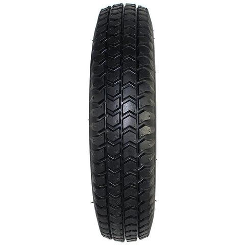 "New Solutions: 3.00-8 (14 x 3"") Black non marking knobby tire Fits Pride / Quickie - F085B  - Grip View"