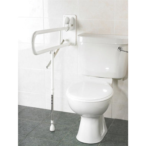 Arc First: Fold Up Support, with adjustable leg, white - 01830-WH - Adjustment View