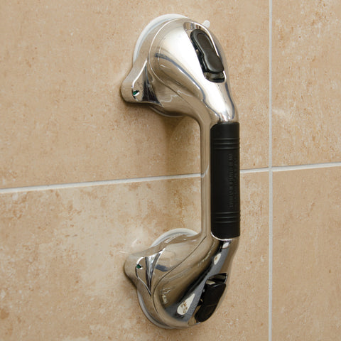 Healthsmart: Suction Cup Grab Bars With Germ-Free Protection Chrome Color - 521-1561-1912