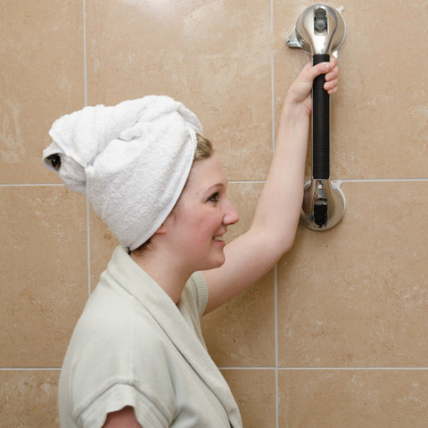 Healthsmart: Suction Cup Grab Bars With Germ-Free Protection Chrome Color - 521-1561-1912 - Actual Image