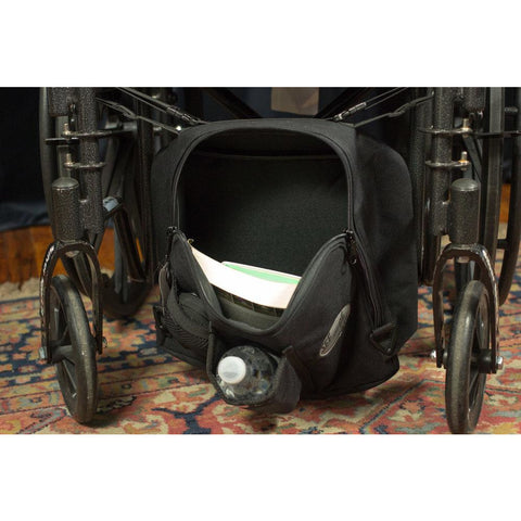 "See and Be Safe: Wheelchair Bag for Under Seat 10"" tall x 13"" wide x 5"" deep - 20241 - Back View"