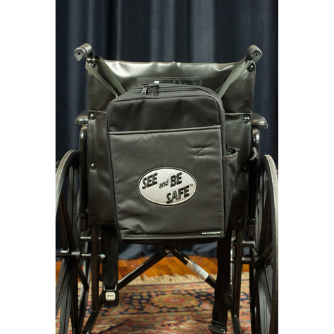 "See and Be Safe: Wheelchair Bag for Behind Seat 15"" tall x 12"" wide x 4"" deep - 20240"