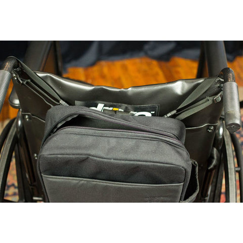 "See and Be Safe: Wheelchair Bag for Behind Seat 15"" tall x 12"" wide x 4"" deep - 20240 - Top View"