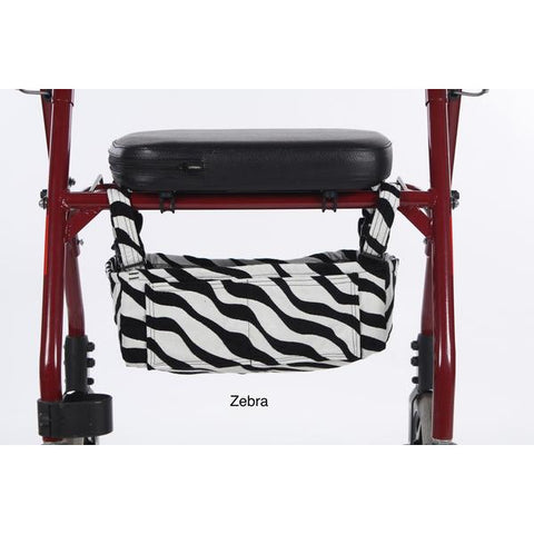 Granny Jo Products: Underseat Rollator Bag - Zebra Color