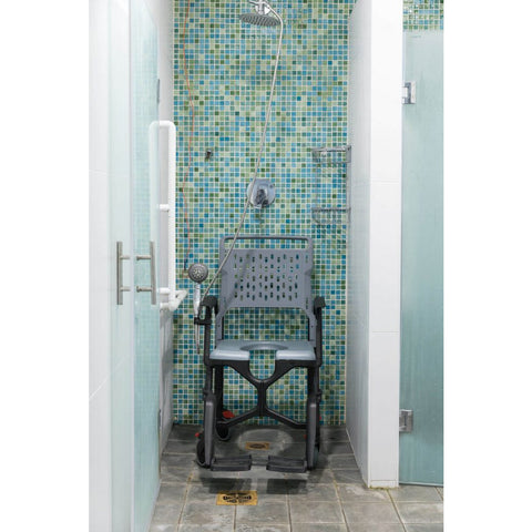 Seatara: Bathmobile Highly Ajustable Commode and Shower Chair - ZMR400100241 - Shower View