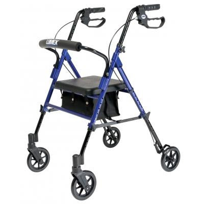 Graham Field: Lumex Set n' Go Height Adjustable Rollator -  RJ4700B blue