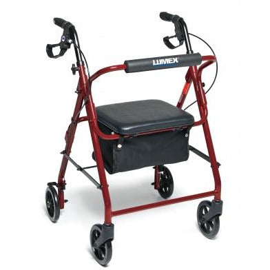 Graham Field: Lumex Walkabout Basic Four-Wheel Rollator -  RJ4900R red