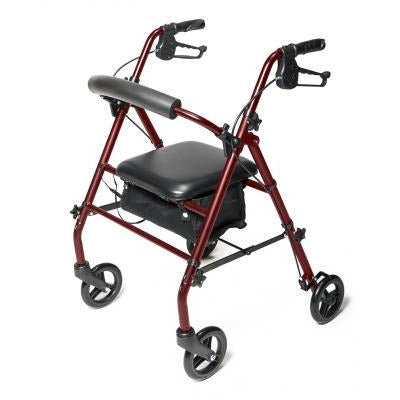 Graham Field: Lumex WALKABOUT STEEL KD 4 WHEEL ROLLATO - RJ5500R Burgundy