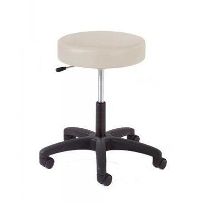 Graham Field: Hausted Physician Stool, Single Lever Release, Black Composite Base - With Foot Ring - 9501-FR-AL