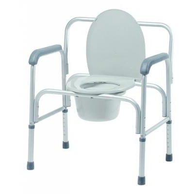 Graham Field: Lumex 3-in-1 Aluminum Commode, 400 lb. Weight Capacity - 2190A