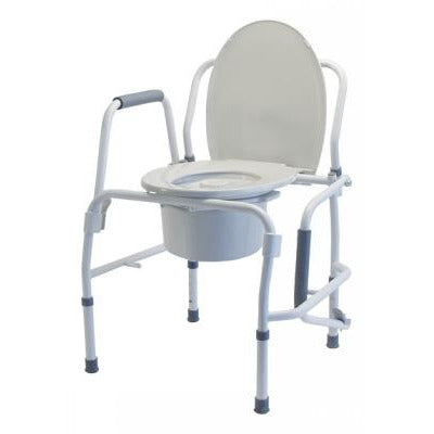 Graham Field: 	Lumex Silver Collection Steel Drop Arm 3-in-1 Commode - 6433A-2
