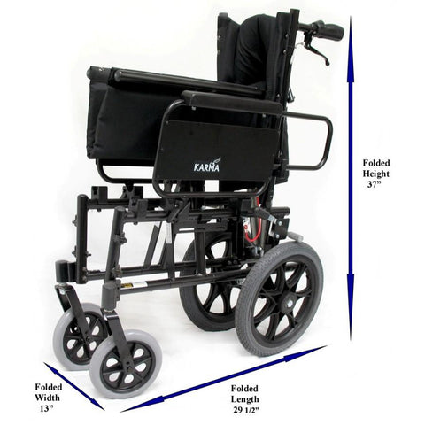 Karman Healthcare :Transport Wheelchairs – KM-5000-TP f