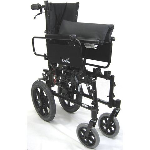 Karman Healthcare :Transport Wheelchairs – KM-5000-TP folded