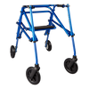 "Image of Circle Specialty: Walking Klip 4-Wheeled - W/Seat & 8"" Outdoor Wheels - KP538 - Blue Color"